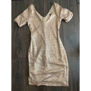 Champagne Gold sequin dress